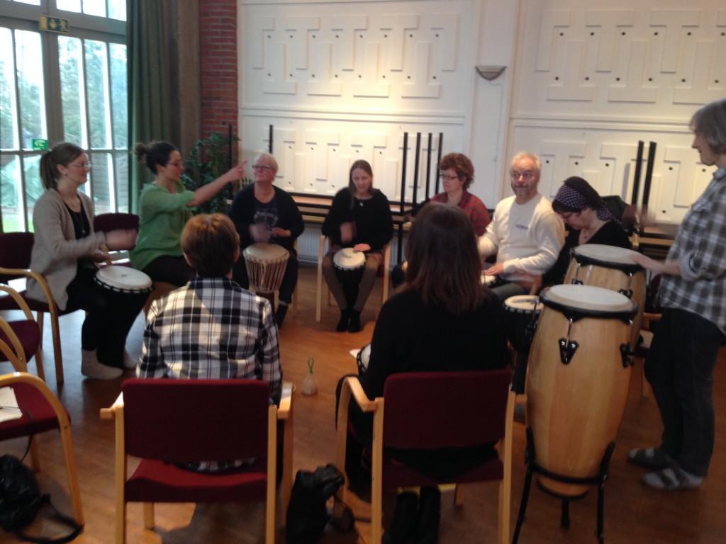 Rytmikworkshop med kyrkomusiker i Kristianstad våren 2015.